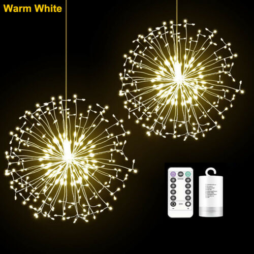 XMASFirework LED Fairy Lights String Copper Wire Remote Control Christmas Decor