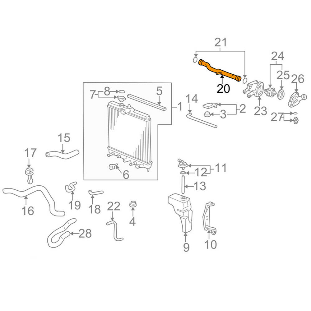 19505-P2A-000 Water Coolant Connecting Pipe For Honda