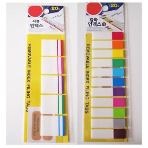 NWT post it Removable Index Tabs/ Index Flags x2EA(I3)