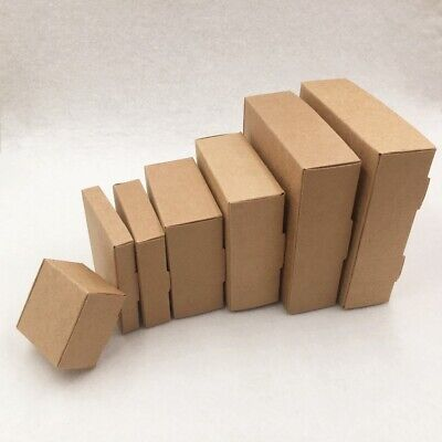 New Brown Kraft Paper Boxes Craft Candy Jewelry Handmade Soap Packaging Box Gift