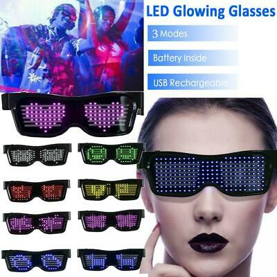 DJ Bluetooth LED Glasses DIY Light Up Glowing APP Control Eye Glasses Club (Diy Eyeglasses)