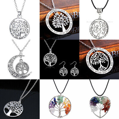 Tree of Life Charm Pendant Tree Necklace Chain Jewelry Family Best Friends