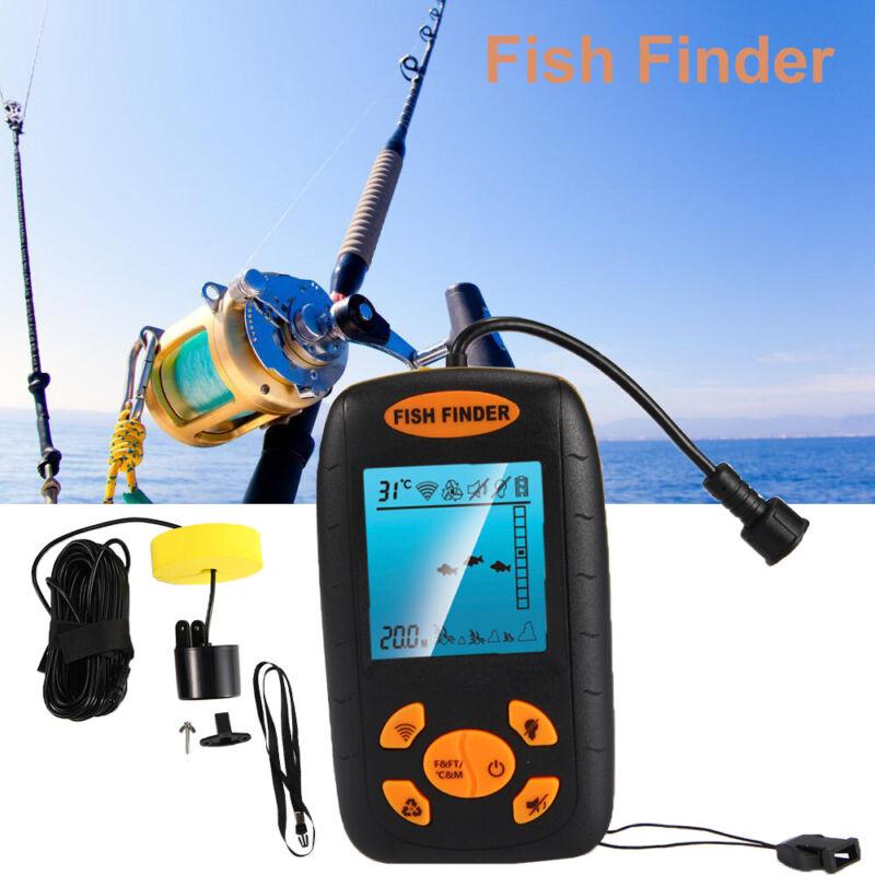 NEW Portable Fish Finder Echo Sonar Alarm Sensor Transducer Fishfinder US Seller