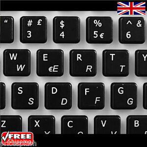 Italian transparent keyboard stickers with white letters for Adesivi computer