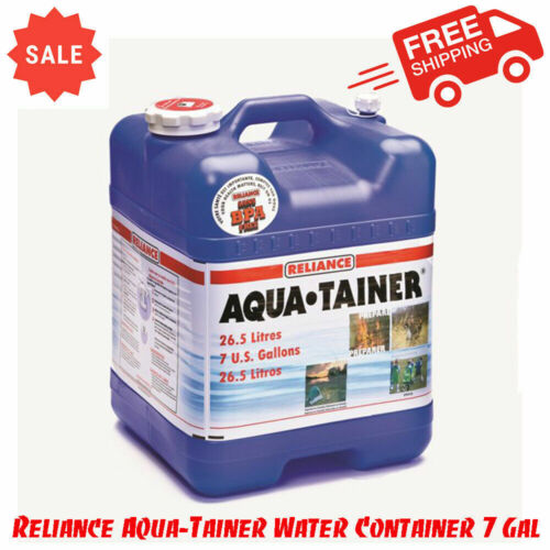 Reliance Aqua-Tainer Water Container 7 Gallon, Easy Storage, BPA-Free, Stackable