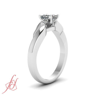 3/4 Carat Solitaire Diamond Engagement Rings With Conflict Free Princess Cut GIA 2