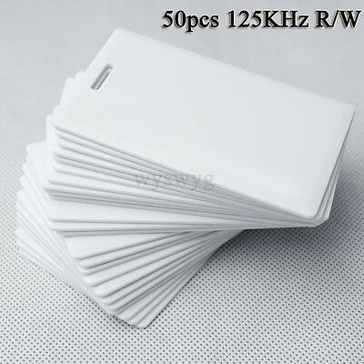 125KHz RFID ID EM 50pcs Writable Rewrite Thick Card For Writer Copier duplicator