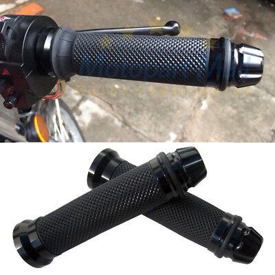 (Black Handlebar Hand Grips 7/8'' 22mm Rubber Gel For Honda Sport Bike Motorcycle)