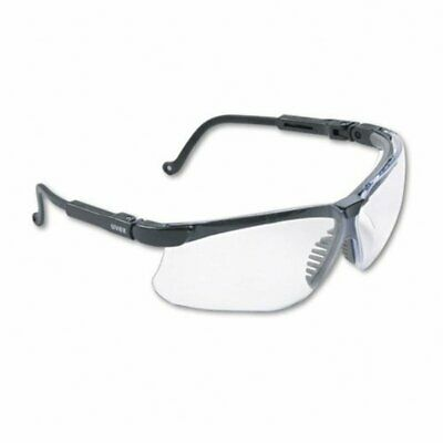 Uvex Genesis Safety Glasses, Black, Clear Lens, Ultra-Dura Anti-Scratch #S3200