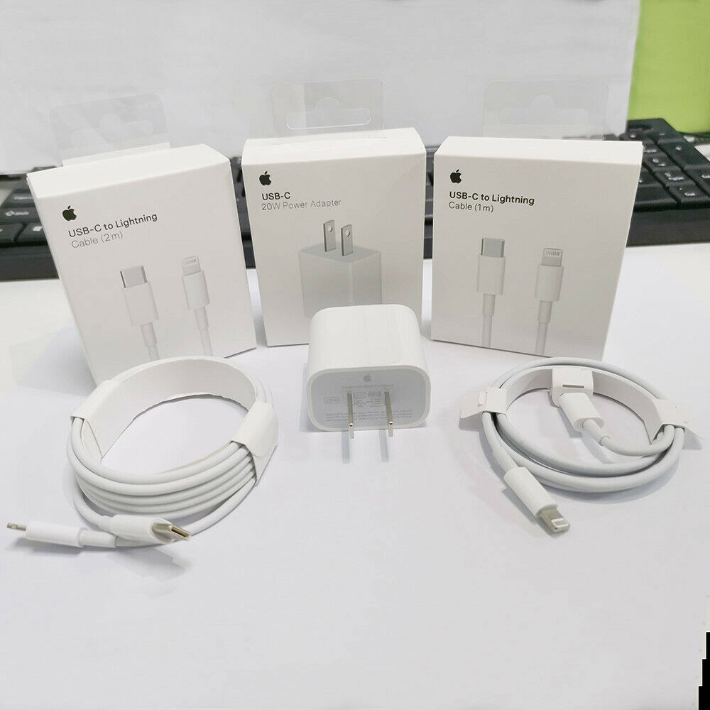 For iPhone 12 11 Pro Max iPad 20W Fast Charger USB C PD Type-C Original Adapter