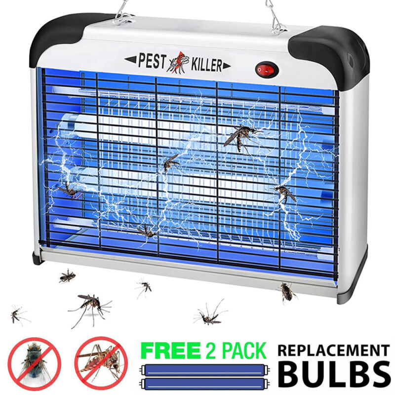 Bug Zapper Electric Insect Trap Pest Control Fly Gnat Mosquito Killer Light Lawn