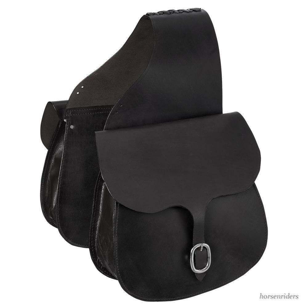 ✔️ Western Saddle Bags - Black Leather ? купить