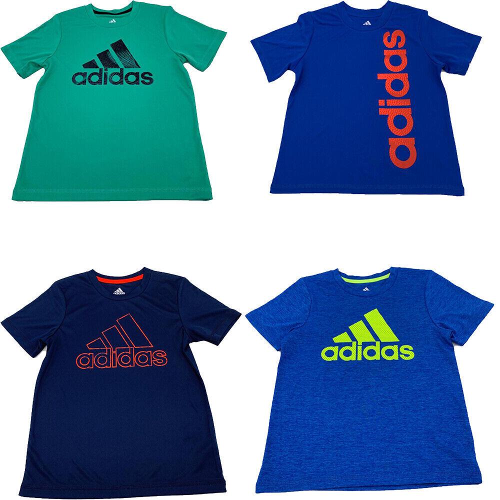 New Adidas Boys Logo Print T-Shirt Short Sleeves Size 5 MSRP
