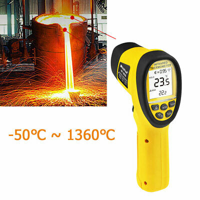 Infrared Temperature Non Contact -501360c Digital Laser Ir Gun Thermometer 161