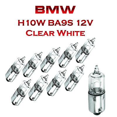 BMW X5 E53 10x H10W BA9S 12V Blue Vision Super Weiß Ersatz Lampen Schachtel