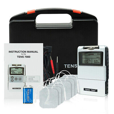 NEW TENS 7000 Digital Back Pain Relief System Unit OTC - 4 E