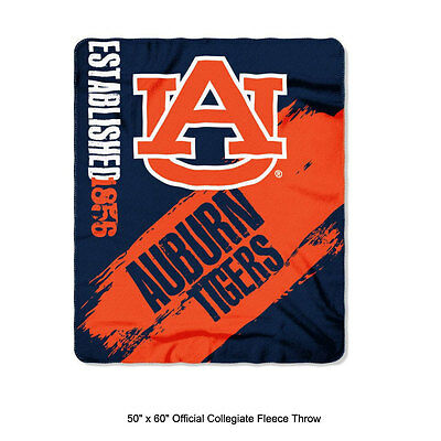 (New Northwest NCAA Auburn Tigers Fleece Throw Blanket Large Size 50