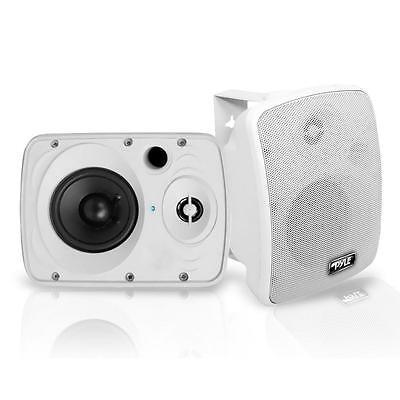 "NEW Pyle PDWR54BTW Pair of 600W 5.25"" Waterproof Bluetooth Active Speakers"