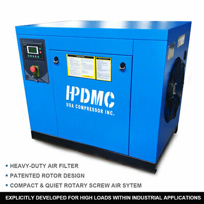 Industrial 7.5kw 10hp Rotary Screw Air Compressor 3 Phase 460v 60hz 39cfm