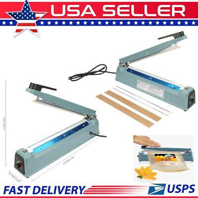12 Impulse Sealer Manual Heat Sealing Machine Poly Element Tubing Plastic 110v