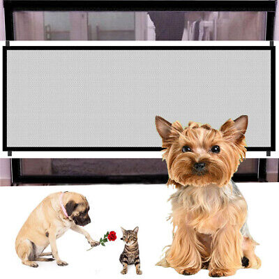 Mesh Dog Guards (Large Pet Dog Baby Safety Gate Mesh Fence Portable Guard Indoor Home Kitchen net )