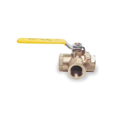 APOLLO Bronze Ball Valve,3-Way,FNPT,1 in, 7060501, diverter valve, FREE - 3 Way Bronze Ball Valve