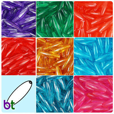 Plastic Beads (BeadTin Transparent 19mm Spaghetti Plastic Beads (200pcs) - Color)