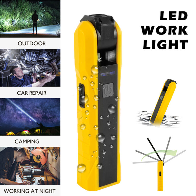 magnetic rechargeable cob led work light lamp