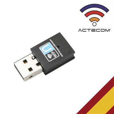 ACTECOM® ADAPTADOR Wifi USB2.0 INALAMBRICO LARGO ALCANCE 300Mbps 802.11b/g/n