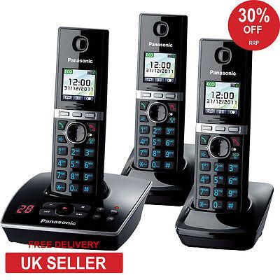 Panasonic KX-TG 8063 Trio Cordless Phone with Integrated Answering Machine New