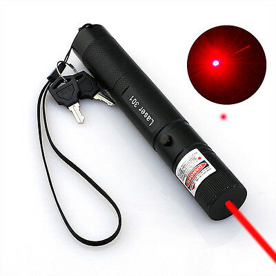 Red Laser Pointer Military High Power Pen 650nm Burn Lazer + Battery + Charger