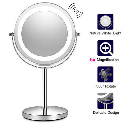Lighted Makeup Mirror with Lights LED Magnifying with Magnification Portable US ()