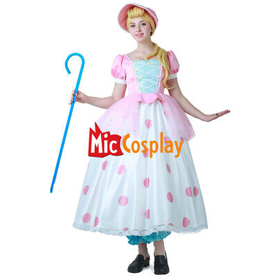 Little Bo Peep Cosplay Dress Costume with Hat (Peep Costumes)