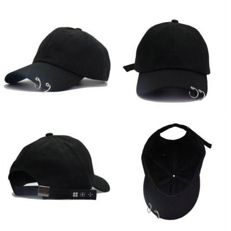 KPOP BTS Live The Wings Tour Hat Bangtan Boys Ring Adjustable Baseball Cap Black