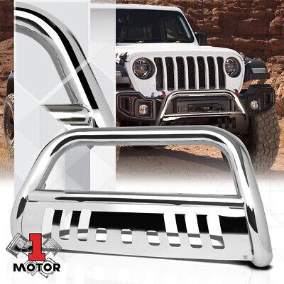 "Chrome 3""Front Bumper Bull/Push Bar Brush Grille Guard for 18-19 Jeep Wrangler"