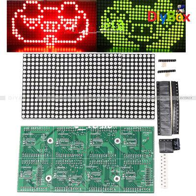 16x32 Dot Matrix Diy Kit Red Green Dual-color Control Led Display Module