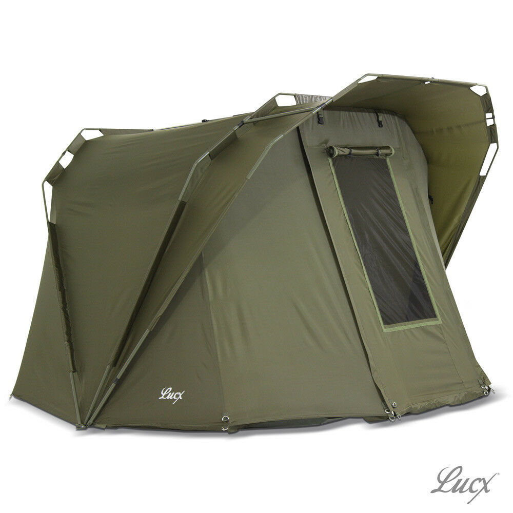Lucx® Karpfenzelt 1 - 2 Mann Angelzelt Bivvy 2 Man Carp Dome Fishing Tent
