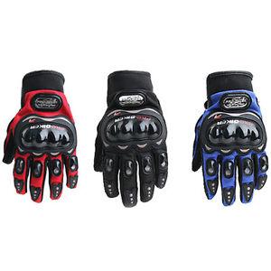 NEW-Carbon-Fiber-Pro-Biker-Bike-Motorcycle-Motorbike-Racing-Gloves-Full-L-XL