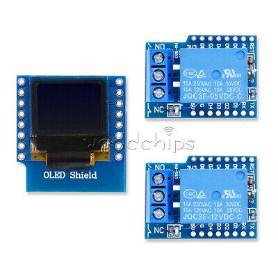 Wemos D1 Mini 512v 1ch Relay Shield 0.66 Inch Oled I2c For Esp8266 Wifi Arduino