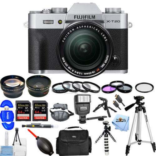 Fujifilm X-T20 Mirrorless Digital Camera with 18-55mm Lens