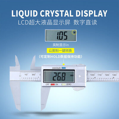 6 150mm Lcd Digital Vernier Caliper Micrometer Measure Tool Gauge Ruler
