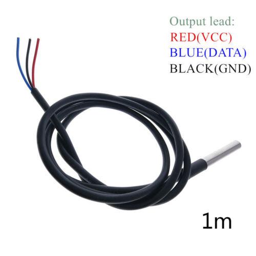 1PC 1M Waterproof Digital Thermal Temperature Probe Sensor DS18B20 Mould Arduino