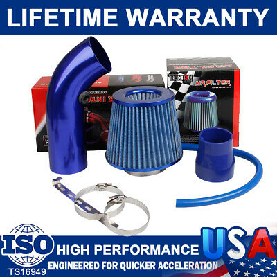 Air Intake Kit Pipe Diameter 3Inch+Auto Cold Air Intake Filter+Clamp+Accessories