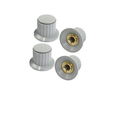 10 Pcs 6mm Shaft Insert Dia Brass Potentiometer Control Knobs Gray  14