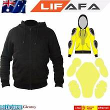 Motorcycle Removable Armoured Full Kevlar Black Hoodie Hadfield Moreland Area Preview