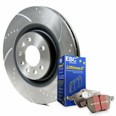 Focus ST Brake Discs and Pads Front Dimpled Grooved EBC Ultimax Pads ST225