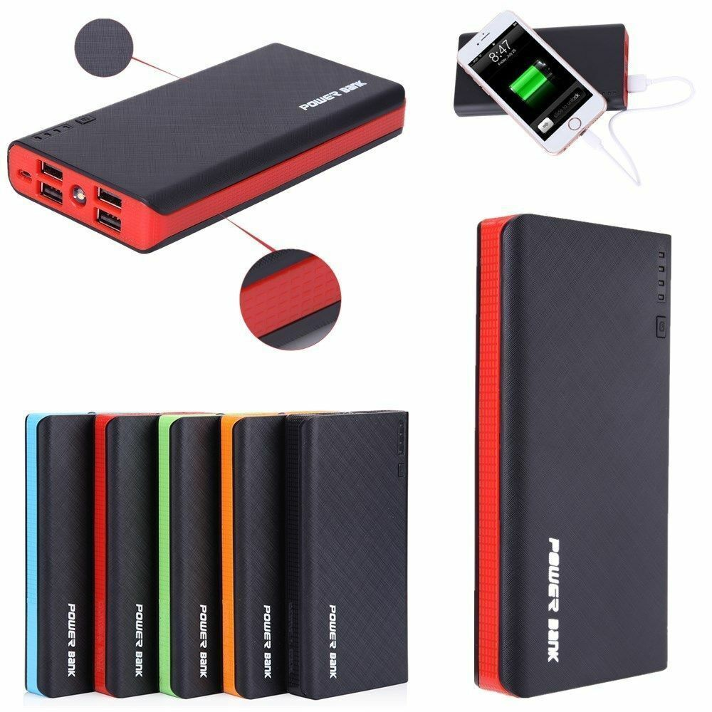 NEWSPOWER 4 USB 900000mAh Power Bank LED External Backup Battery Charger F Phone Cell Phone Accessories