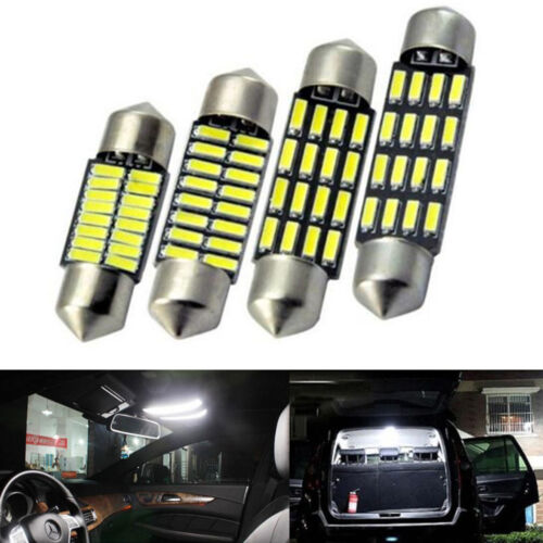 31/36/39/41mm 4014 16SMD LED Festoon Dome Reading Light License Plate Lamp White