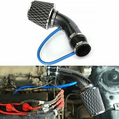 Car Auto Cold Air Intake System Turbo Induction Pipe Hose Cone Filter Kit Black