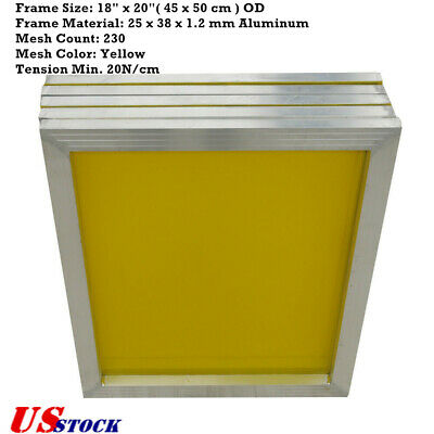Us 18 X 20 6 Pack Aluminum Frame Silk Screen Printing Screens With 230 Mesh